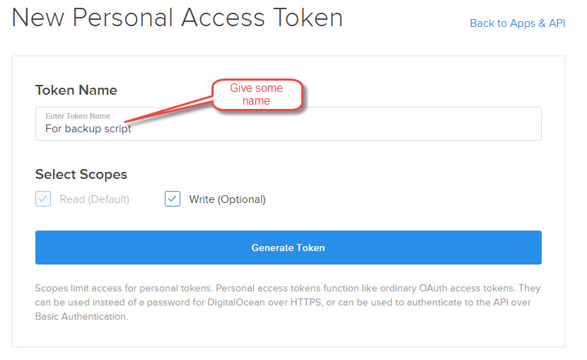 New-Personal-Access-Token-digital-ocean