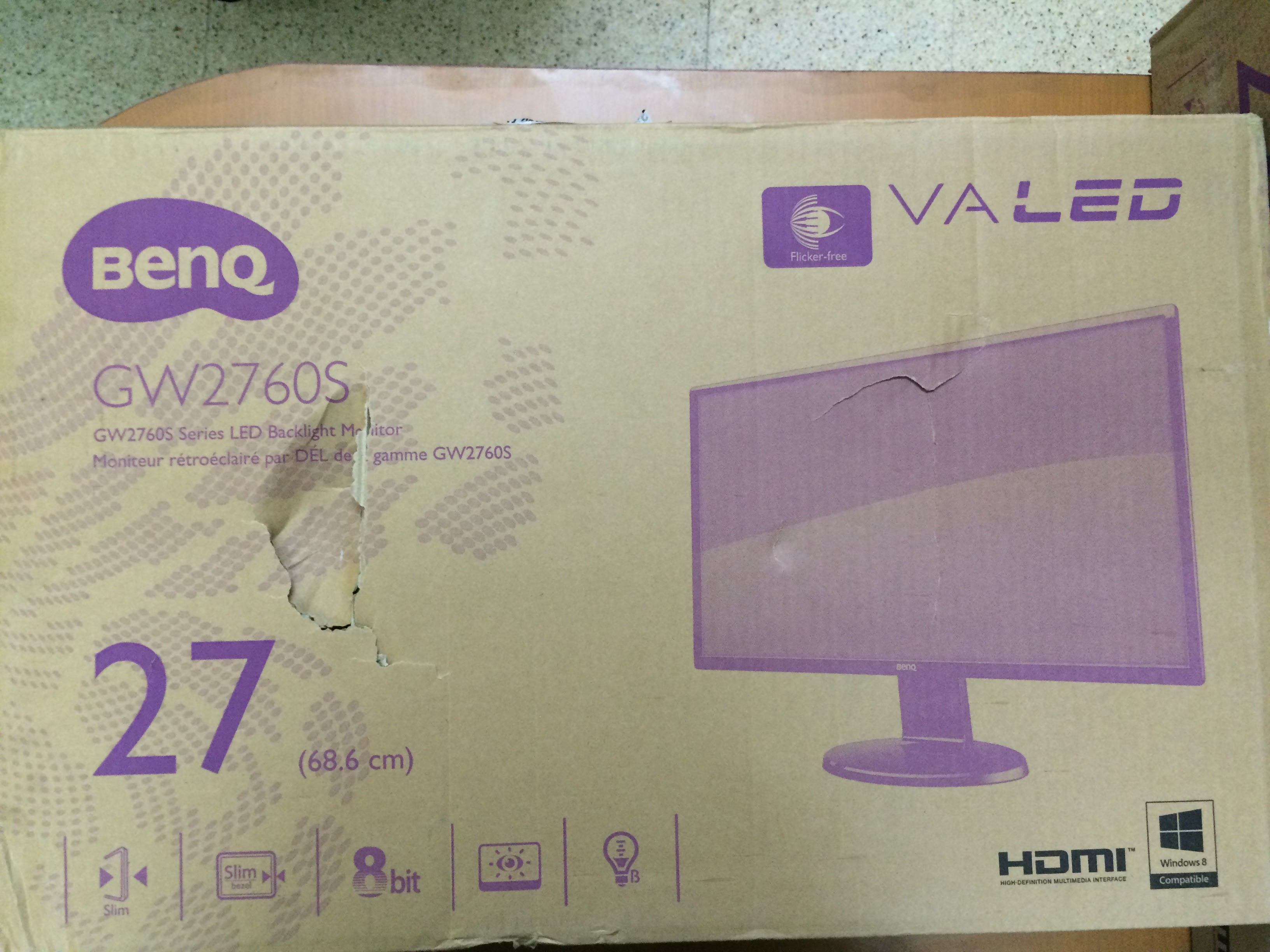 snapdeal-benq-gw-2760-monitor-packing