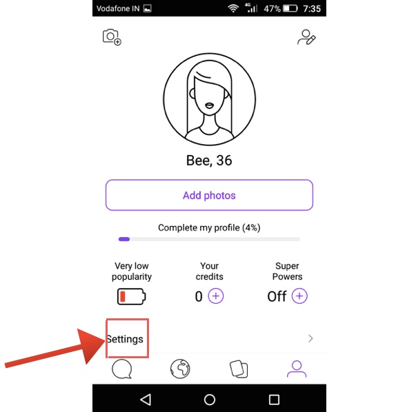 How to delete badoo account on mobile