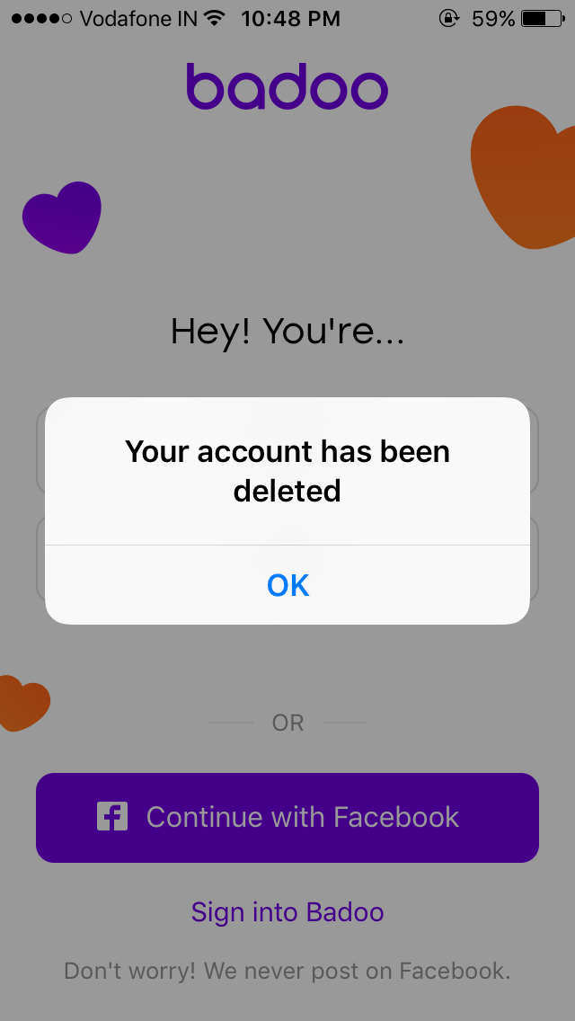 How to delete uniform dating account on iphone
