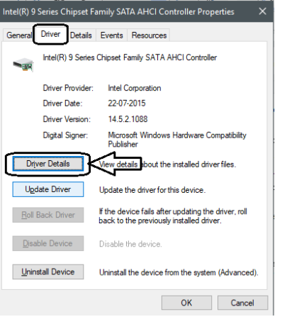 Navigate to Driver tab and click on Driver Details