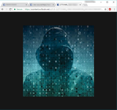 zoomed image of facebook profile guard image
